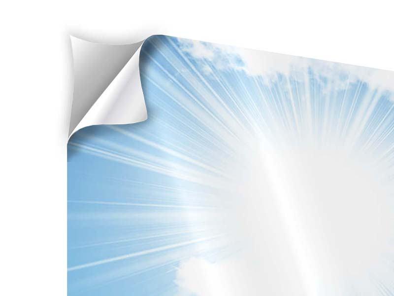 Panorama Klebeposter 3-teilig Am Himmel