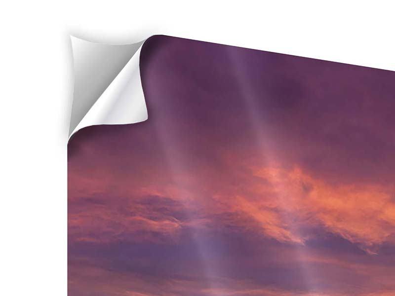 Panorama Klebeposter 3-teilig Abenddämmerung