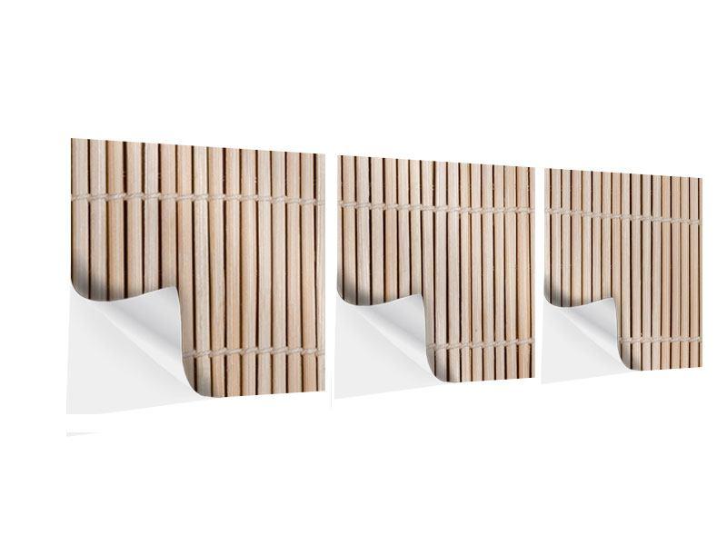 Panorama Klebeposter 3-teilig Lucky Bamboo