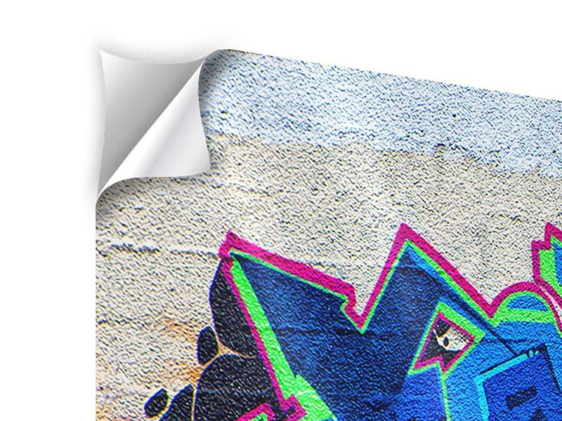 Panorama Klebeposter 3-teilig Graffiti NYC