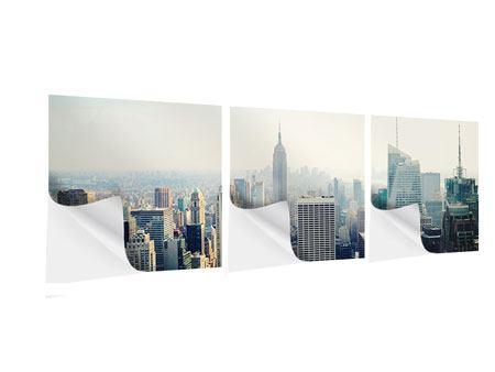 Panorama Klebeposter 3-teilig NYC
