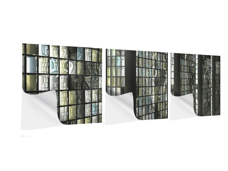 Panorama Klebeposter 3-teilig Windows