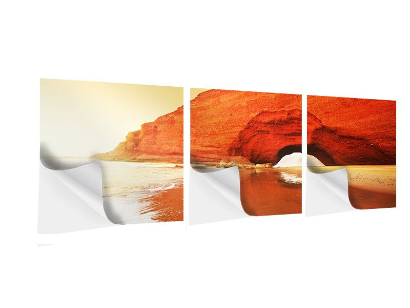 Panorama Klebeposter 3-teilig Wasserspiegelung