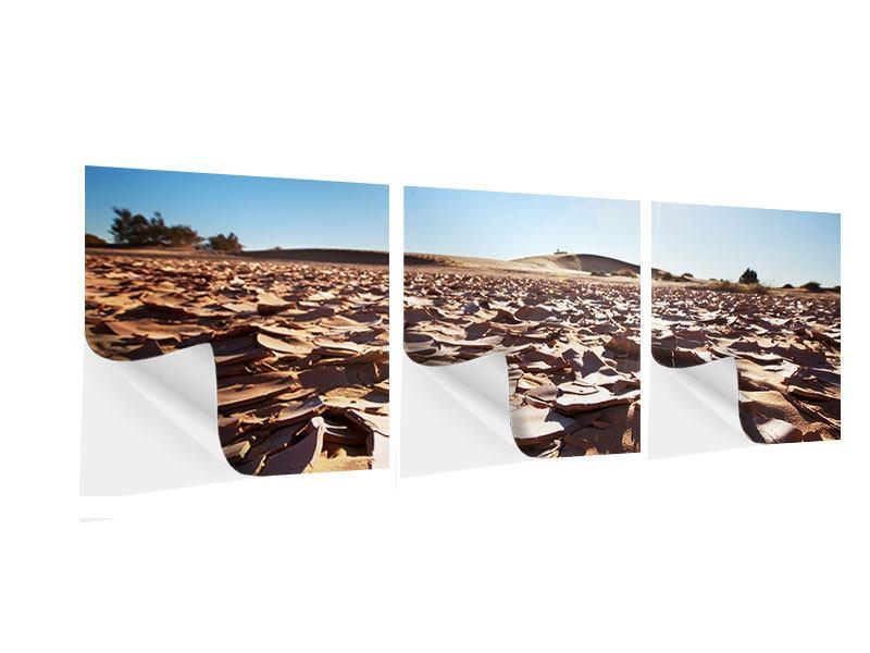 Panorama Klebeposter 3-teilig Dürre