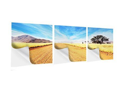 Panorama Klebeposter 3-teilig Eine Landschaft in Afrika