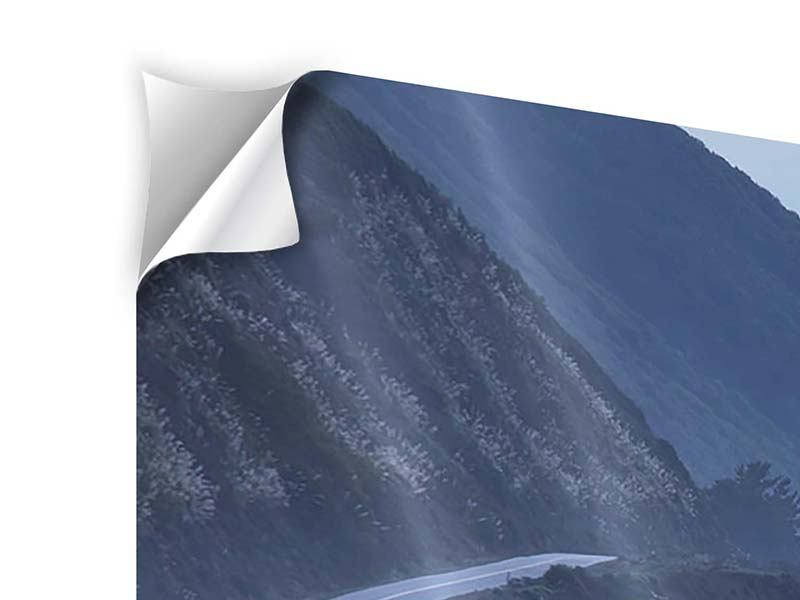Panorama Klebeposter 3-teilig Bewegung im Wasser