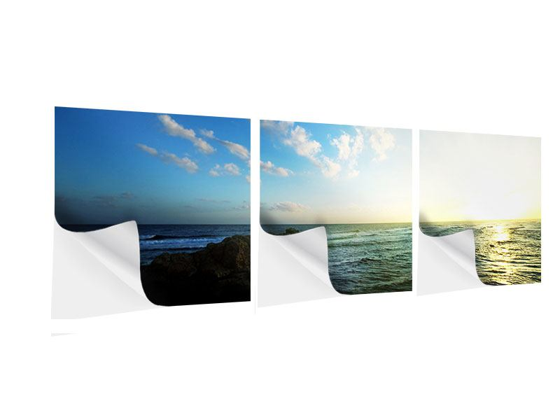 Panorama Klebeposter 3-teilig Die See