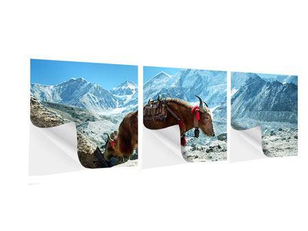 Panorama Klebeposter 3-teilig Das Himalaya-Gebirge