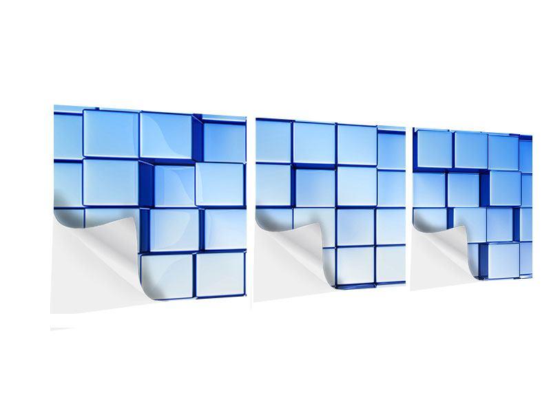 Panorama Klebeposter 3-teilig 3D-Symetrie
