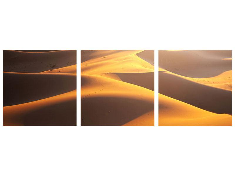 Panorama Klebeposter 3-teilig Wüstenwanderung