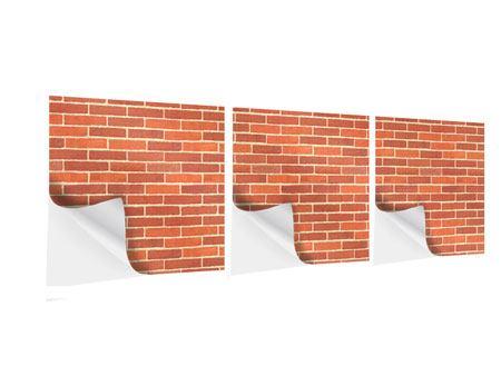 Panorama Klebeposter 3-teilig Backsteine