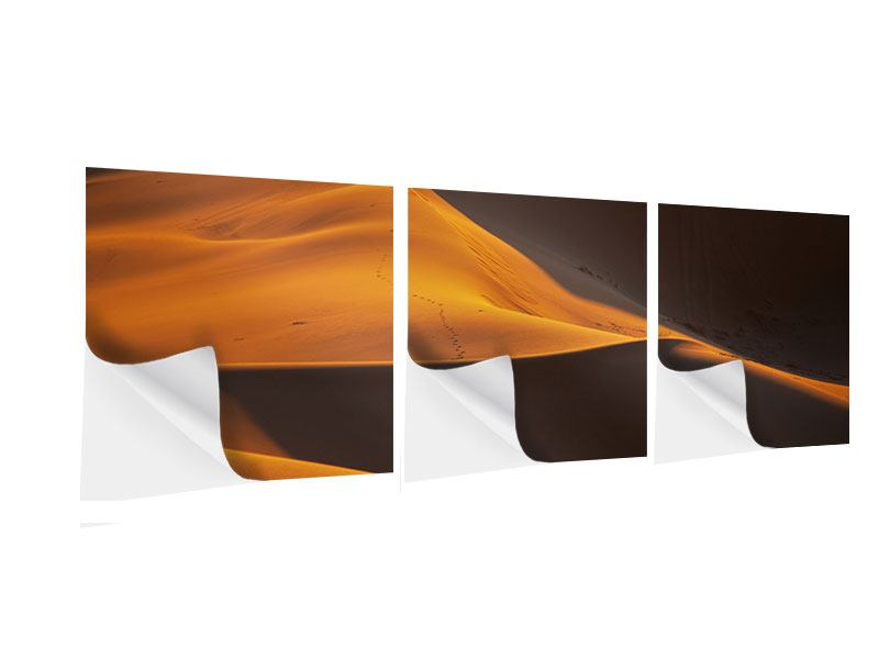 Panorama Klebeposter 3-teilig Wüstensand
