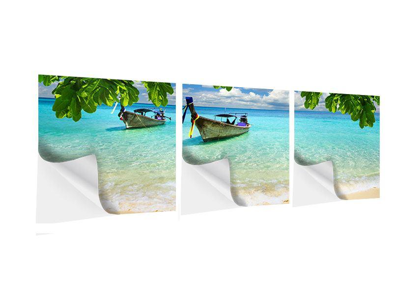 Panorama Klebeposter 3-teilig Ein Blick auf das Meer