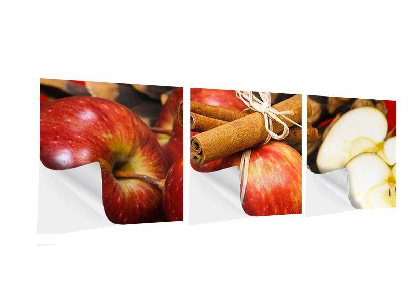Panorama Klebeposter 3-teilig Äpfel