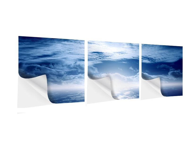 Panorama Klebeposter 3-teilig Mystischer Himmel