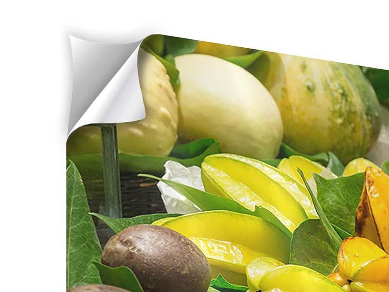 Panorama Klebeposter 3-teilig Früchte