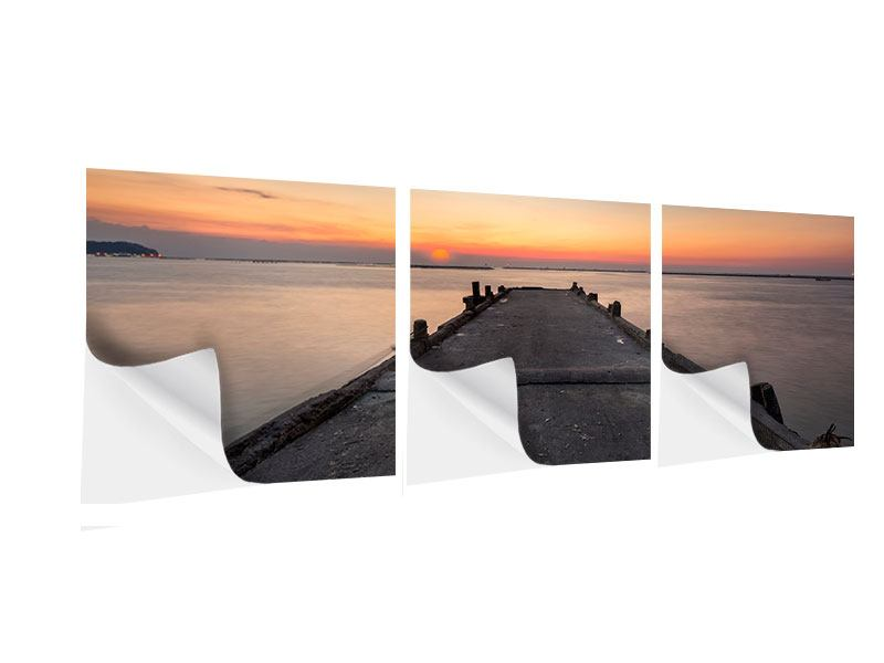 Panorama Klebeposter 3-teilig Der Steg