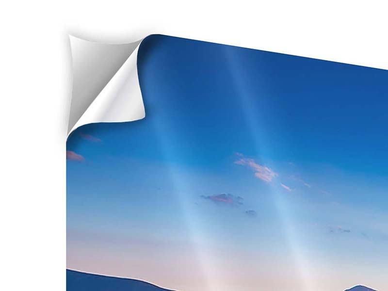 Panorama Klebeposter 3-teilig Friedliche Landschaft