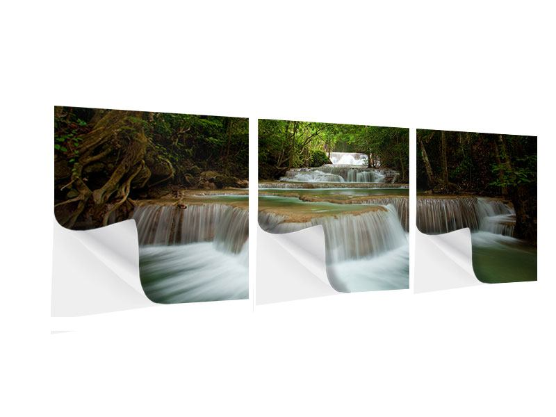 Panorama Klebeposter 3-teilig Die 7 Stufen