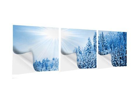 Panorama Klebeposter 3-teilig Wintermärchen