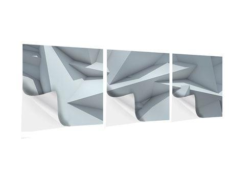 Panorama Klebeposter 3-teilig 3D-Kristallo