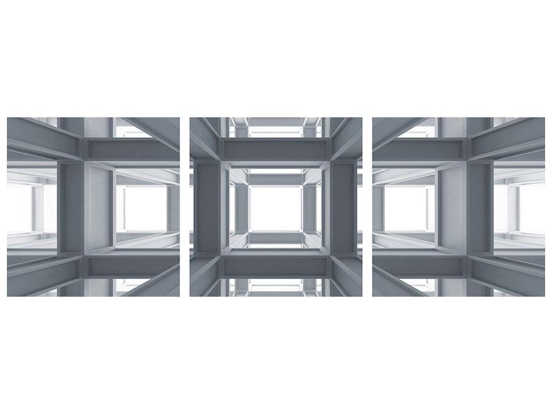 Panorama Klebeposter 3-teilig Räume