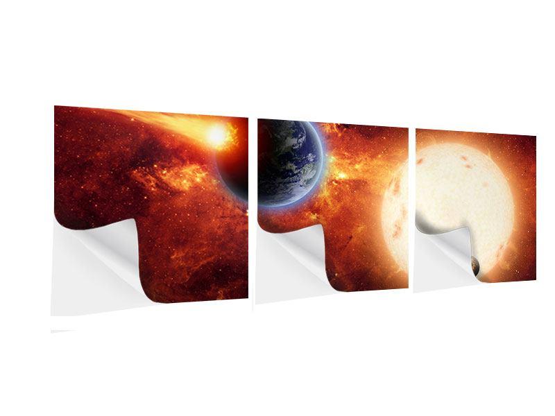 Panorama Klebeposter 3-teilig Der Kosmos