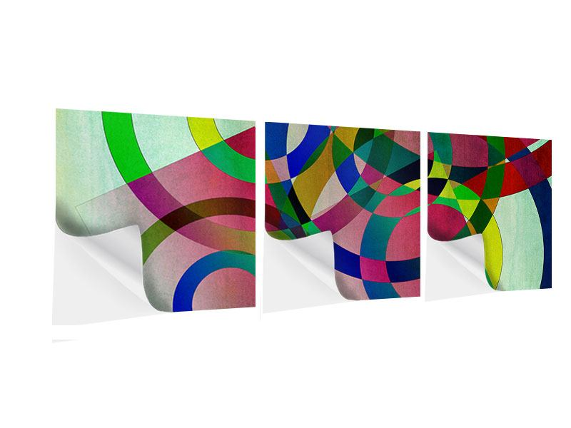 Panorama Klebeposter 3-teilig Wandkunst