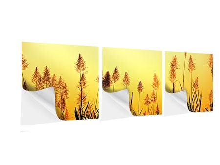 Panorama Klebeposter 3-teilig Die Blumen des Feldes