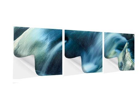 Panorama Klebeposter 3-teilig Das Fliessende Wasser