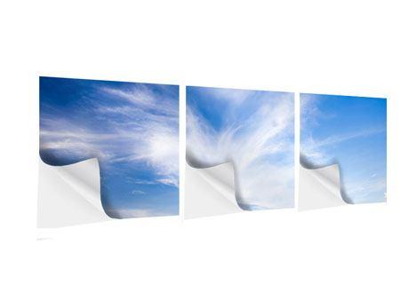 Panorama Klebeposter 3-teilig Schleierwolken