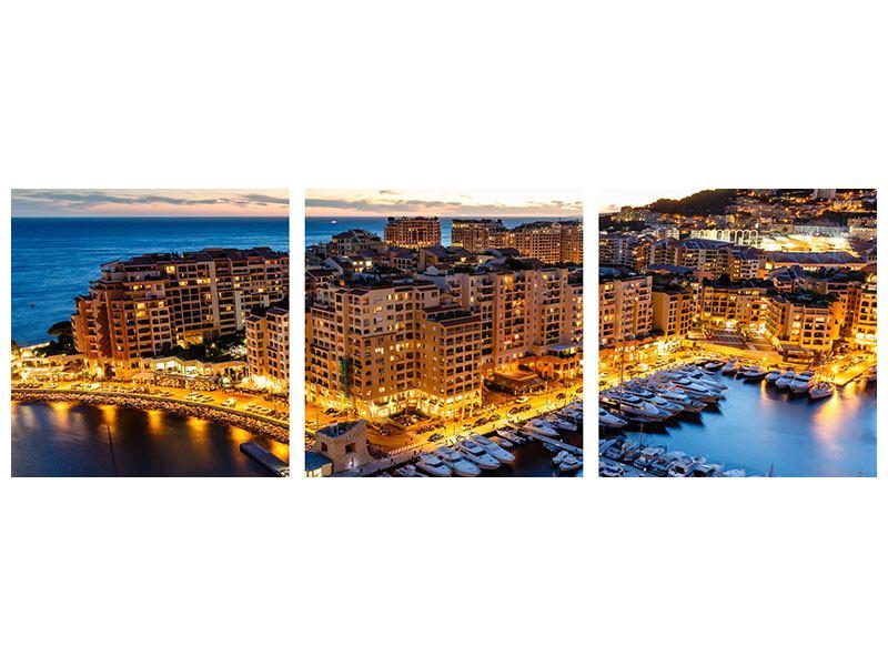 Panorama Klebeposter 3-teilig Monaco