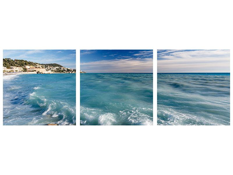 Panorama Klebeposter 3-teilig Cote D`Azur