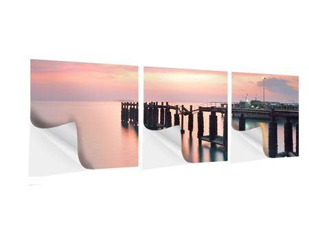 Panorama Klebeposter 3-teilig Der beruhigende Sonnenuntergang