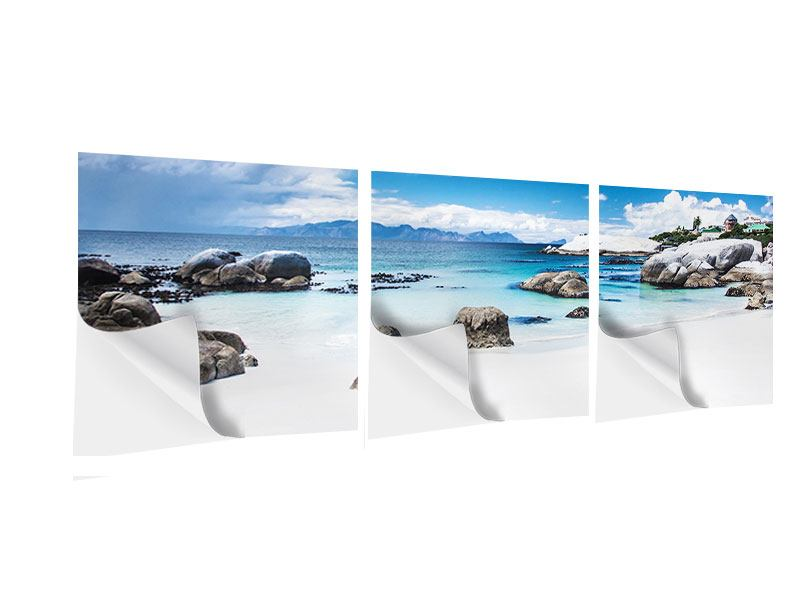Panorama Klebeposter 3-teilig Inselfeeling