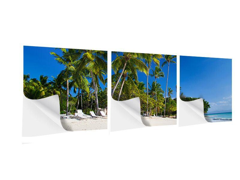 Panorama Klebeposter 3-teilig Aloha