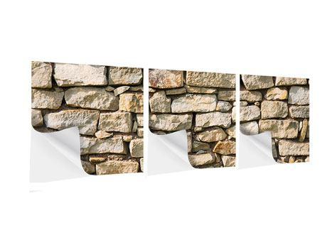 Panorama Klebeposter 3-teilig Natursteine