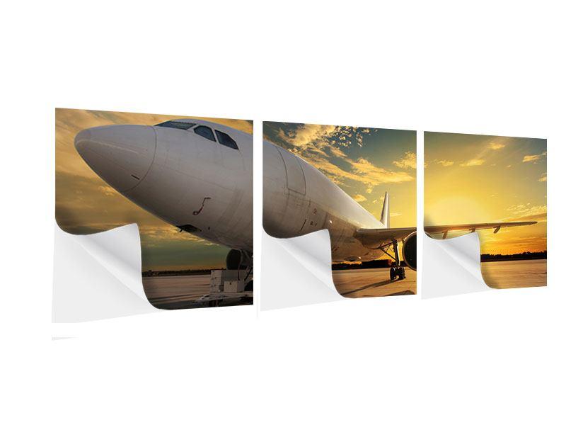 Panorama Klebeposter 3-teilig Jet