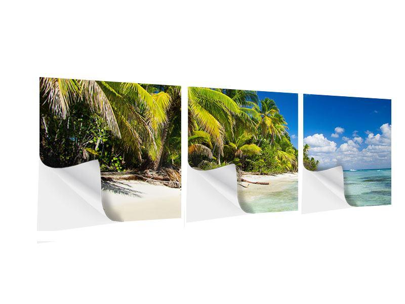 Panorama Klebeposter 3-teilig Die einsame Insel