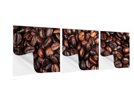 Panorama Klebeposter 3-teilig Kaffeebohnen in XXL