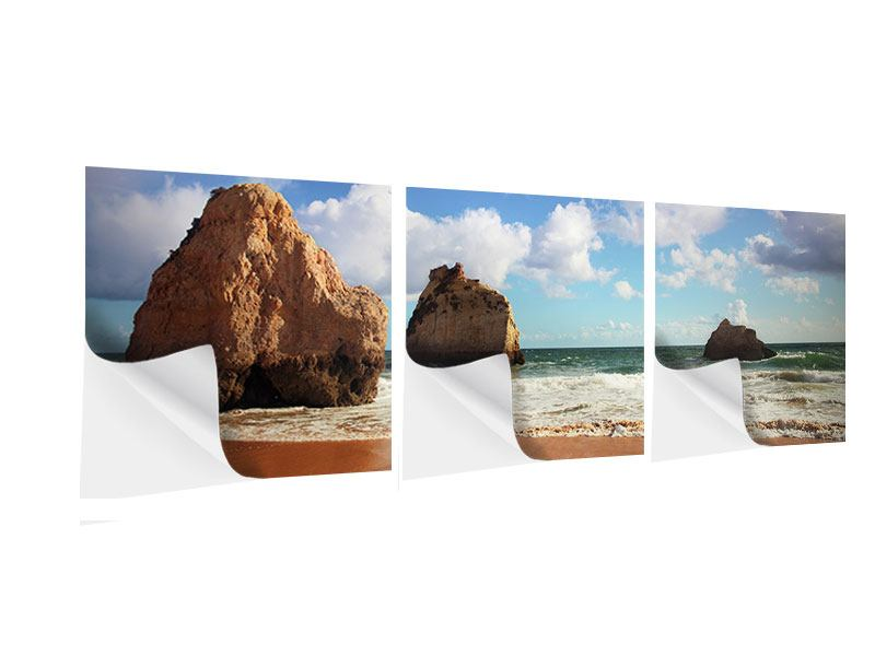 Panorama Klebeposter 3-teilig Strandgedanken