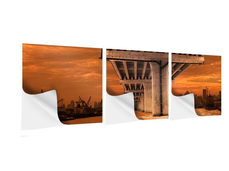 Panorama Klebeposter 3-teilig Die Brücke