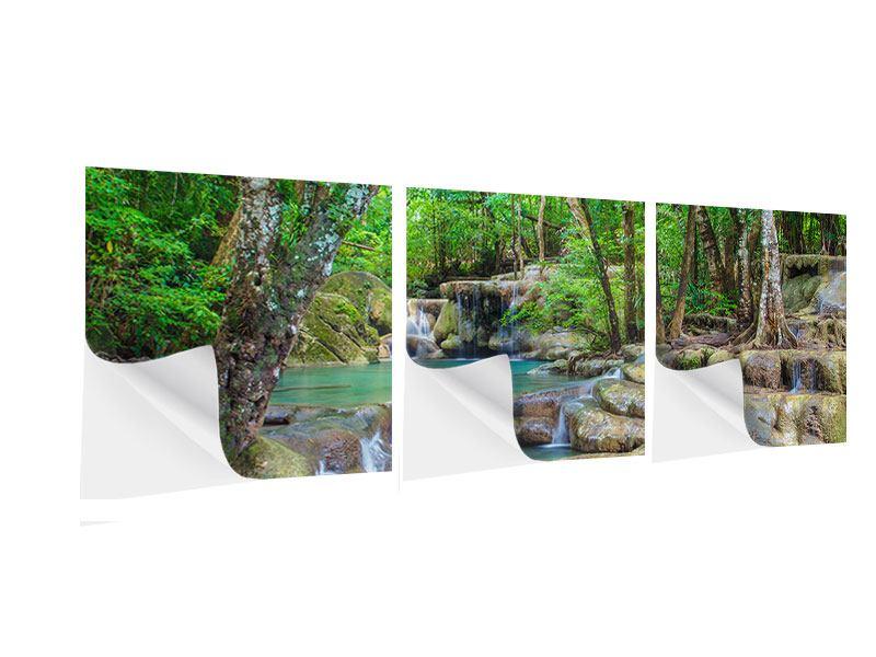Panorama Klebeposter 3-teilig Wasserspektakel