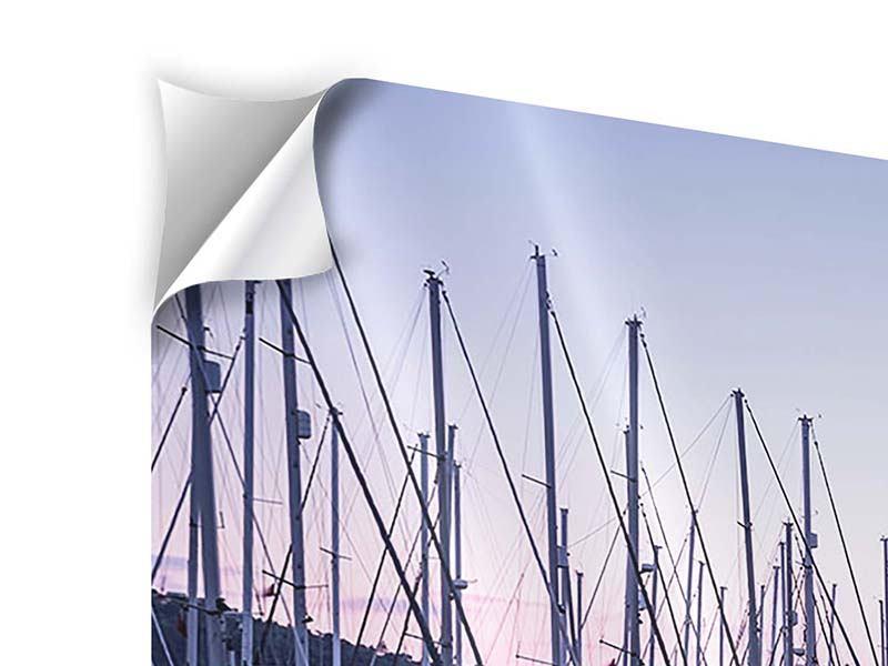 Panorama Klebeposter 3-teilig Yachthafen