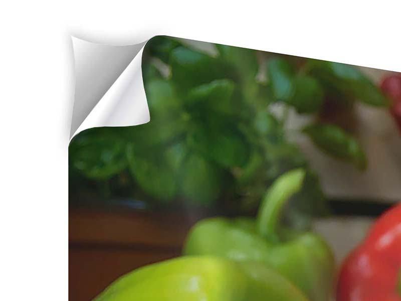 Panorama Klebeposter 3-teilig Mediterranes Gemüse