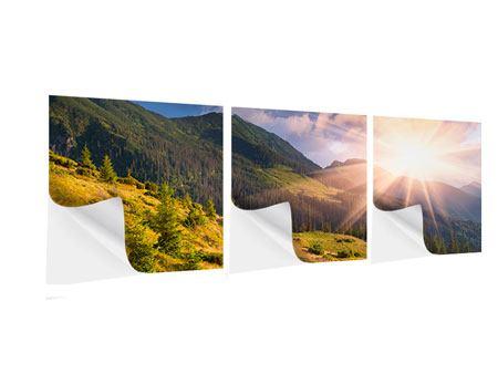 Panorama Klebeposter 3-teilig Herbstanfang