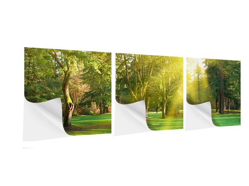 Panorama Klebeposter 3-teilig Im Park