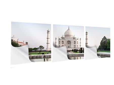 Panorama Klebeposter 3-teilig Taj Mahal
