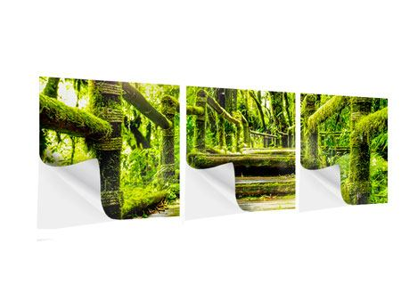 Panoramic 3 Piece Self-Adhesive Poster Moss