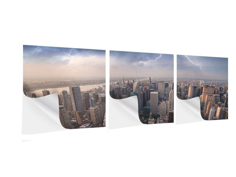 Panorama Klebeposter 3-teilig Manhattan
